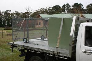 Standard chicken tractor flatbed truck