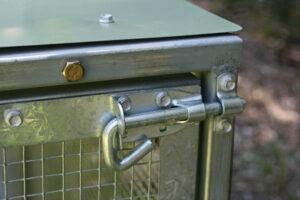 Standard chicken tractor lock