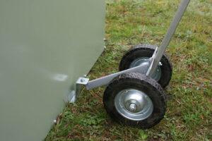 Standard chicken tractor tow wheel