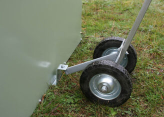 Standard chicken tractor tow wheel
