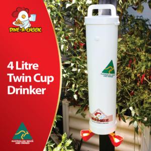Twin cup drinker