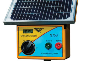 Thunderbird S75B Solar Energiser - with Internal Batteries Fitted
