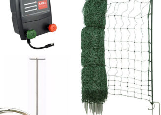 poultry netting kit battery mains 50m